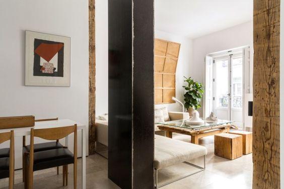 decoralinks | columna metalica para separar estancias