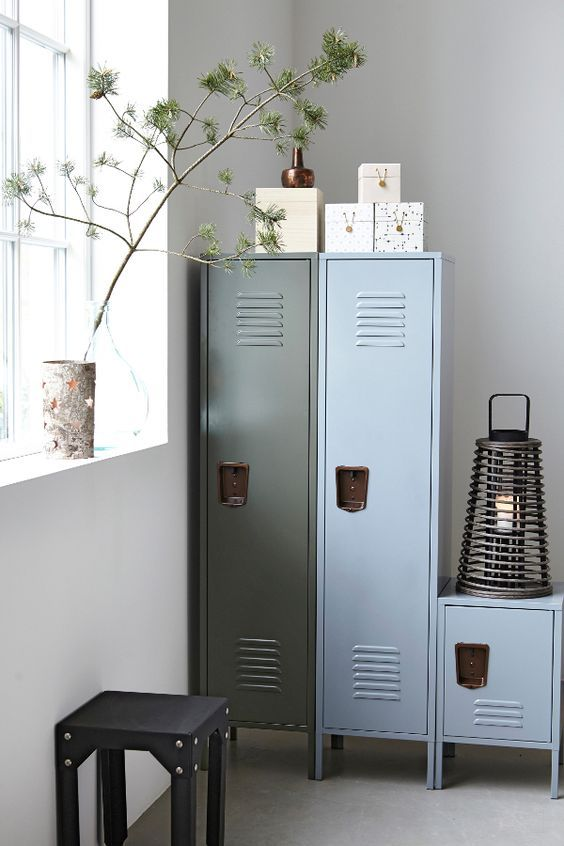 decoralinks | blue and green lockers from housedoctor