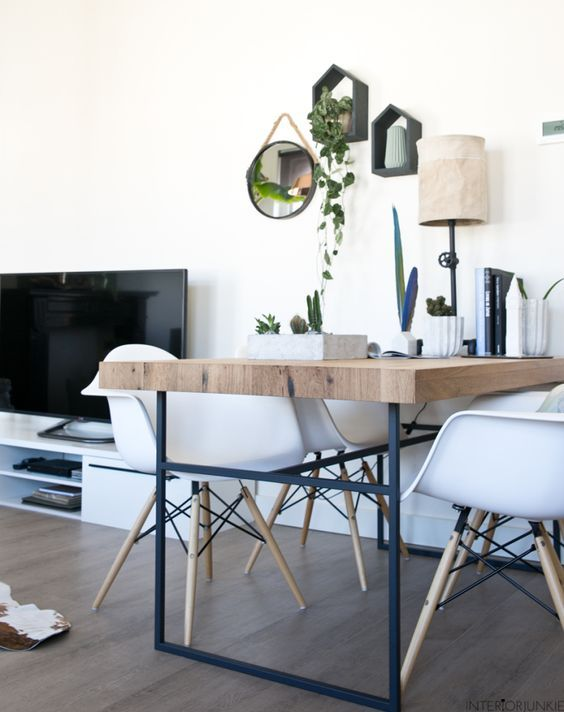 decoralinks | mesa comedor diy y sillas eames