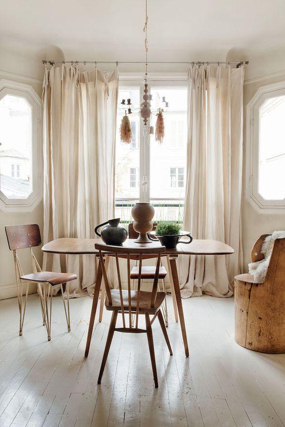 decoralinks | cortinas caidas que arrastran en el salon