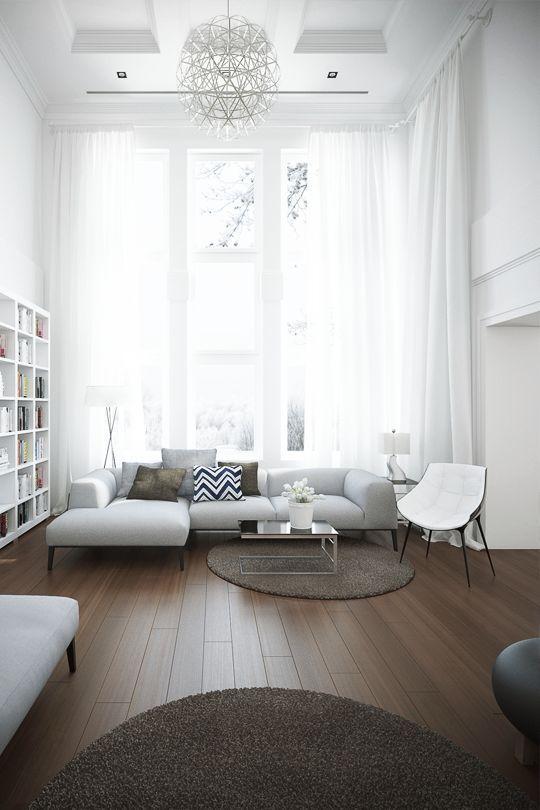 decoralinks | cortinas blancas ligeras para el salon