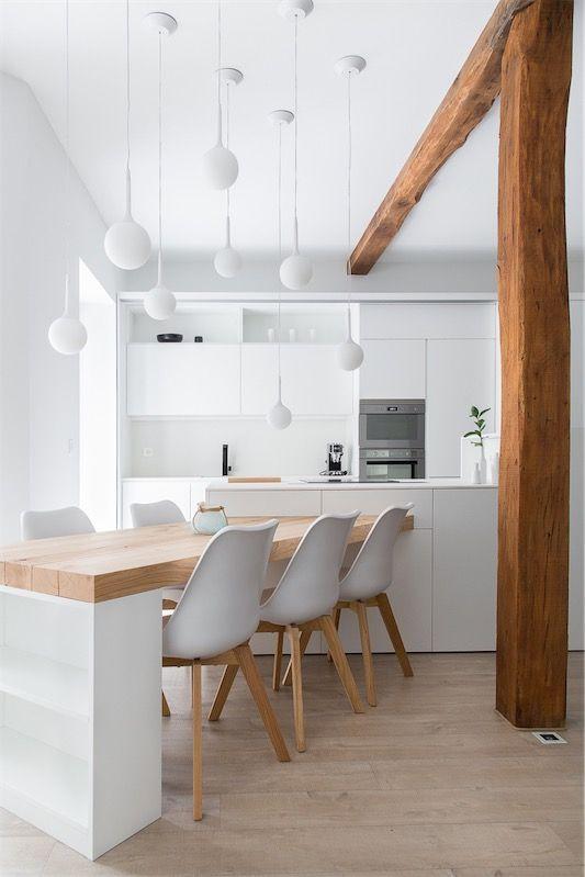 decoralinks| ideas brillantes para cocina - mesa oblicua