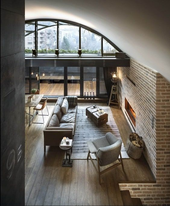 decoralinks | apartamento loft industrial -vista del salon