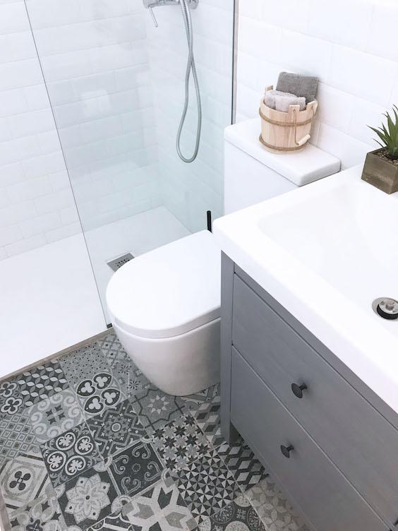 decoralinks    materiales low cost en imitacion suelo hidraulico y lavabo ikea