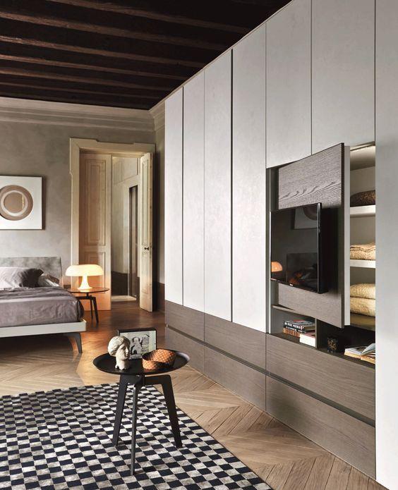 decoralinks | ocultar la television en el dormitorio