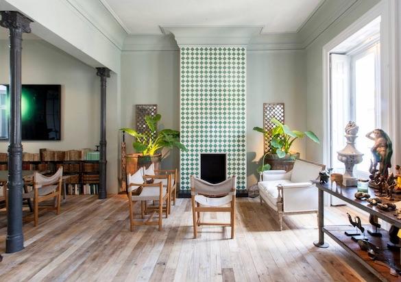 decoralinks | chimenea revestida de azulejo marroqui