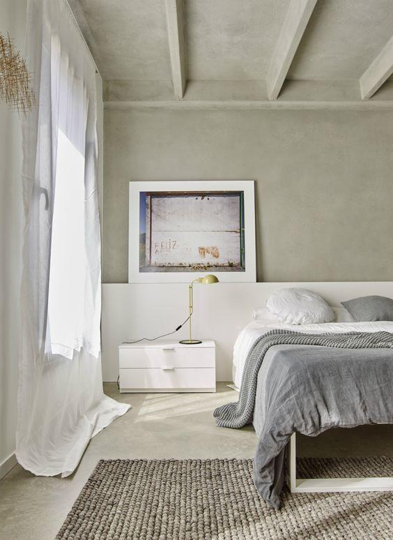 decoralinks | dormitorio con vigas de hormigon visto