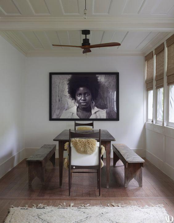 decoralinks   comedor en galeria de lenny kravitz en su hacienda de brasil