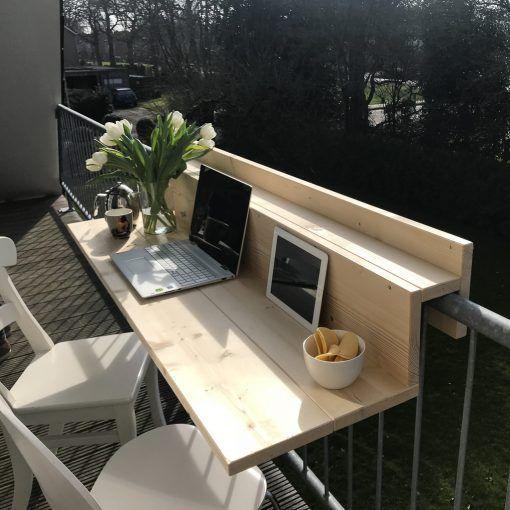 decoralinks | trabajar desde casa en el balcon