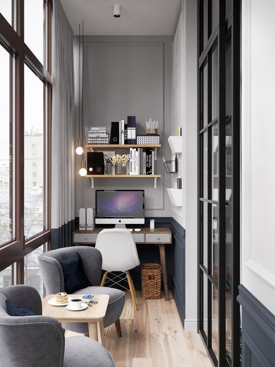 decoralinks | el balcon es perfecto para alojar un escritorio y un par de butacas