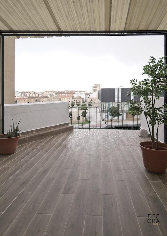 decoralinks | reforma piso salamanca - terraza con vistas al ECI