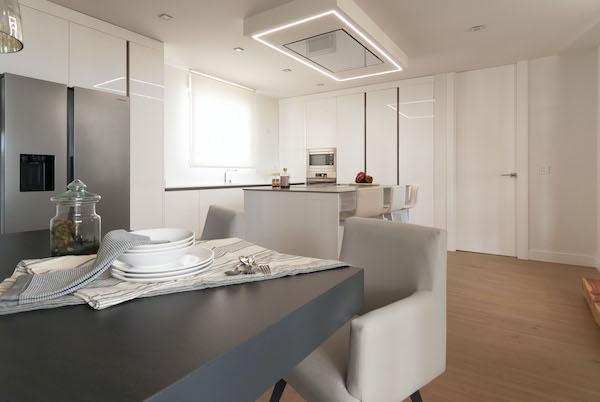 decoralinks | cocina hecha a medida en blanco alto brillo