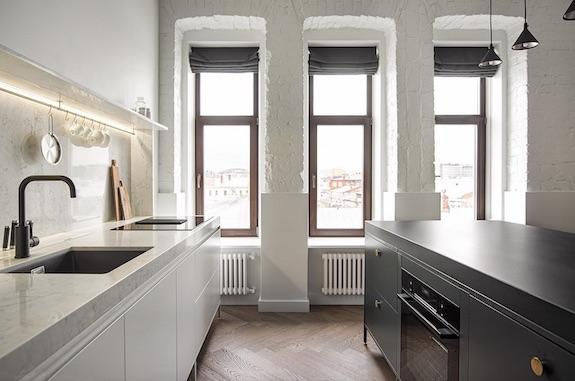 decoralinks | casa una distribucion perfecta #cocina #cocinaabierta #int2architecture #cocinablanca #islanegra