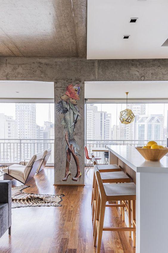 decoralinks | vivienda en brasil cerrada con cortinas de cristal con doble camara