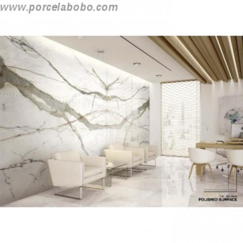 calacatta book match porcelain tile