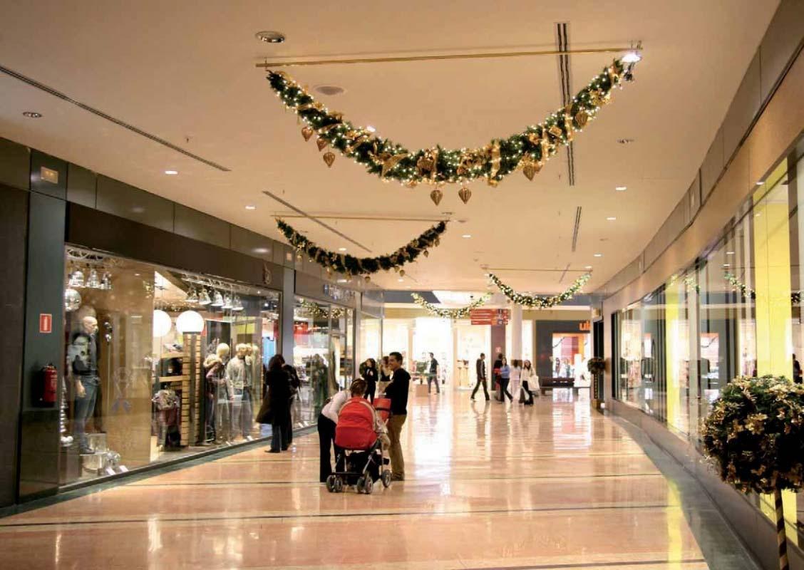 Decoracin navidea de centros comerciales