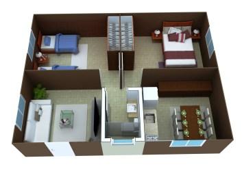 planta casa 3d casas plantas simples baixa modelos gratis projetos planos sobrados modernos pequenos modelo uma projeto construir desenho recamaras