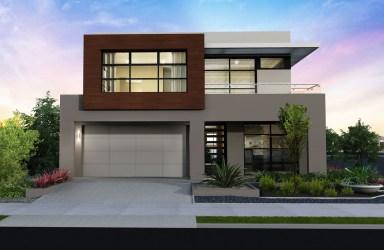 casas fachadas modernas pequenas fachada casa bonitas dos pisos minimalistas plantas gris arquitectura moderna minimalista modelos frentes bonita niveles marron