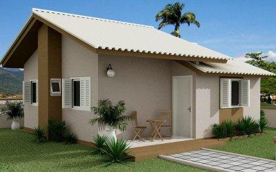 casas simples pequenas fachadas baratas