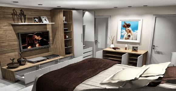Closets modernos e planejados para quarto  Decorando Casas