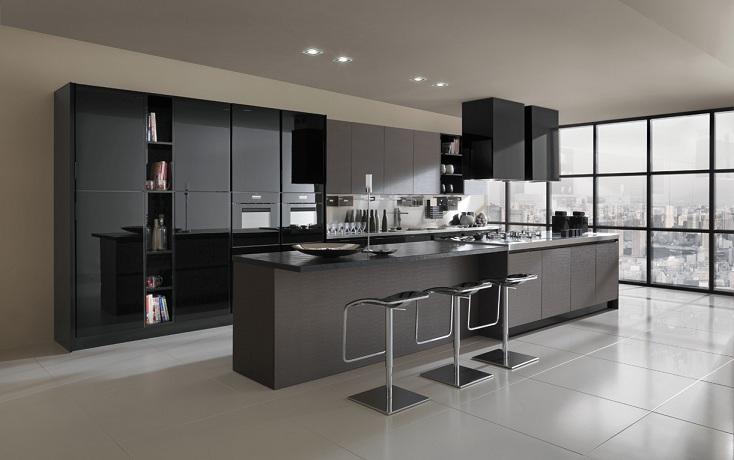 Projetos cozinhas planejadas grandes e modernas  Decorando Casas