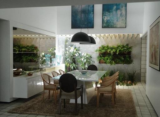 Decorao de sala com jardim de inverno  Decorando Casas