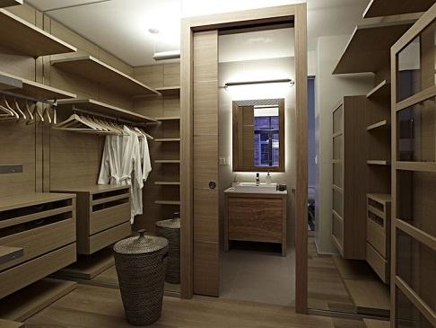 Closet com banheiro integrado pequeno  Decorando Casas