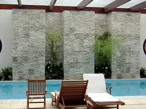 Muros de piscinas decorados  Decorando Casas
