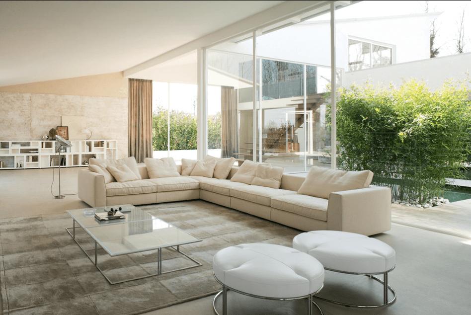 sofas modernos para sala de tv chintz sofa fabric decorandoonline canto