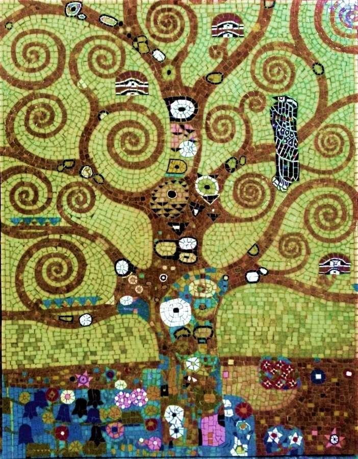 L'arbre De Vie De Klimt : l'arbre, klimt, L'Arbre, Gustav, Klimt., 90x70cm, Vente, Mosaïques, Romaines