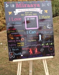 chalkboard aniversario menina