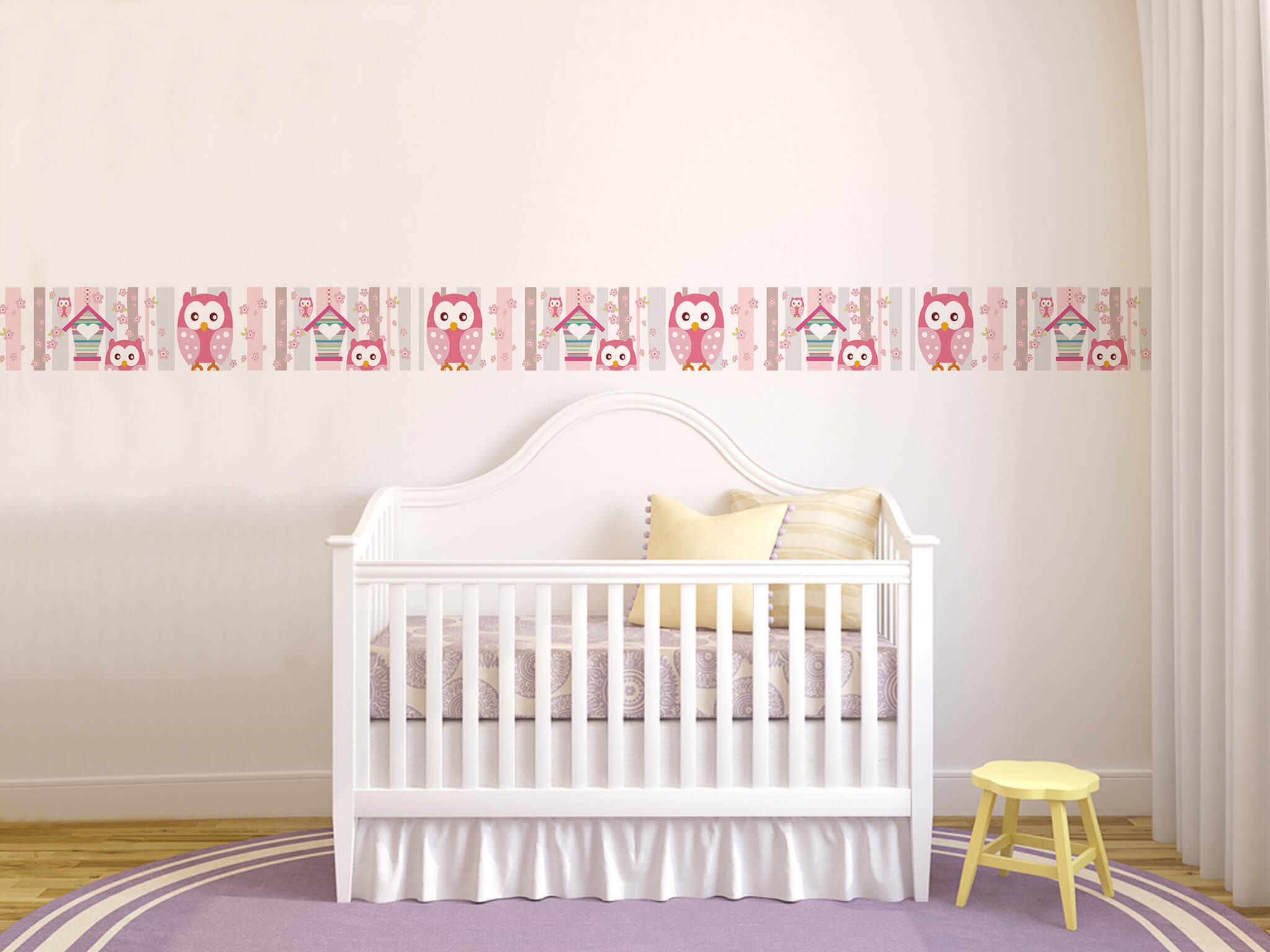 Decora O Do Quarto De Beb O Guia Definitivo Com Tudo Que Voc  ~ Papel De Parede Para Quarto De Bebe Rosa E Marrom