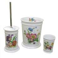 floral hand painted bathroom accessories