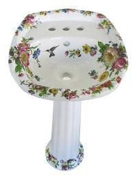 Floral Scented Garden Design Hand Painted Bath Basins ...