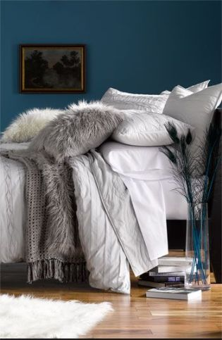 faux fur and linen fabric