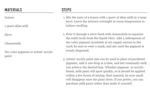 simple milk paint recipe