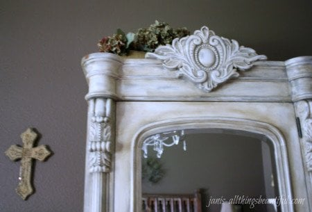 armoire-tophalf-2 - How To Antique Furniture - DIY Antiquing Furniture -Decorated Life