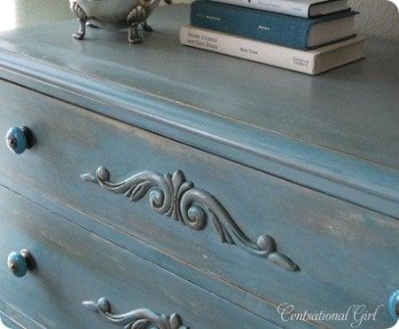 dresserdetailmore_thumb - How To Antique Furniture - DIY Antiquing Furniture -Decorated Life