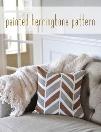 diy-painted-herringbone-pattern