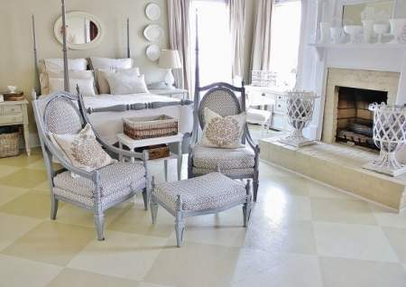 muted checkerboard floors