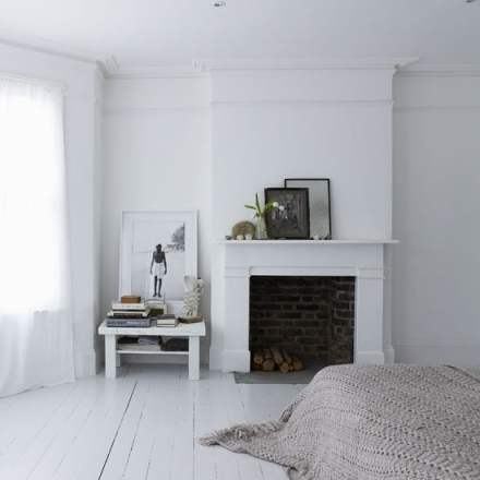 white wood flooring