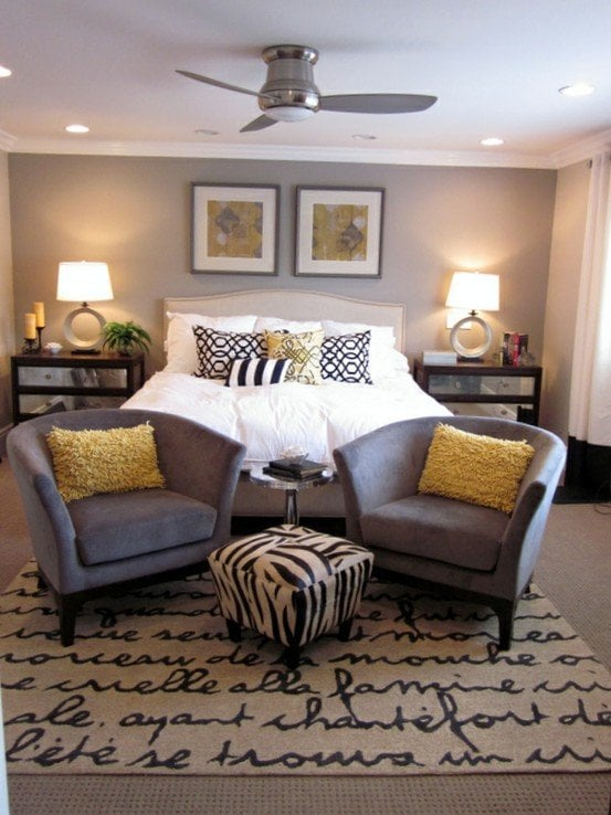 Gray Yellow And Aqua Bedroom Decoration Ideas Also Grey Decorating Best