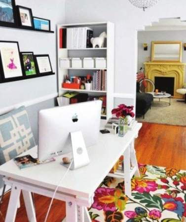 brightly colored rug