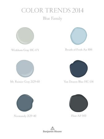10 ways to use blue paint colors blue color of the year for Benjamin moore paint colors 2014