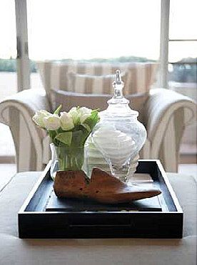 decorate large living room storage tables ottoman coffee table trays and styling - videos ...