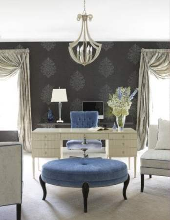 Glamor using floral wall paper