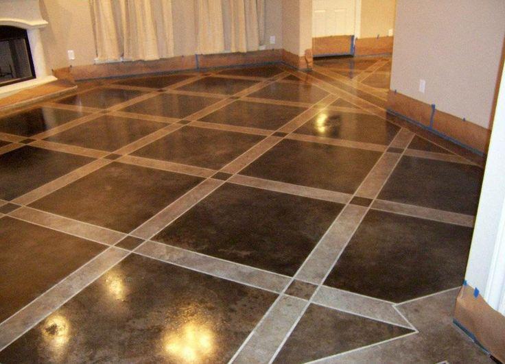 Painted Concrete Floors Concrete Floor Paint Tutorial