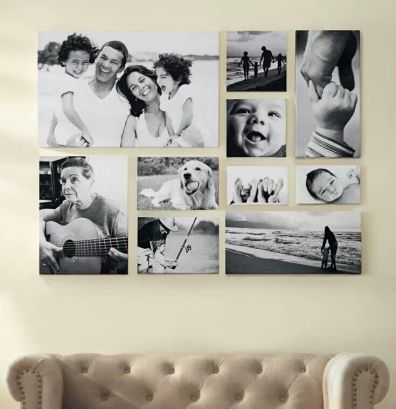 emily cox using photos on canvas and not frames