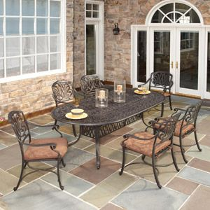 Wrought Iron Outdoor Dining Table Set