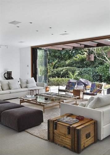 open view to a luxurious garden